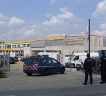 Le chantier d'extension du collège de Duclair reçoit la visite des gendarmes