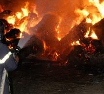 Luneray. Un hangar agricole et 200 tonnes de paille et de lin sont partis en fumée : incendie criminel ?