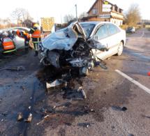 Violente collision au carrefour : trois blessés, dont deux graves entre Orbec et l'Aigle