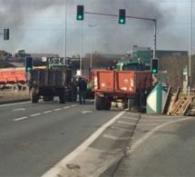 Les blocages d'agriculteurs ce matin en Normandie et en Bretagne