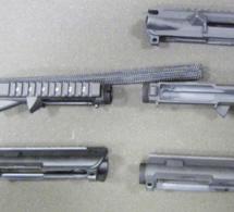 L'équivalent de cinq fusils d'assaut en pièces détachées saisi au domicile d'un Parisien