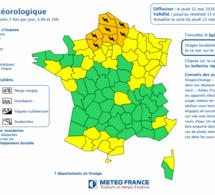 Orages : l'Eure et la Seine-Maritime placées en vigilance orange dès 16 heures