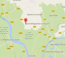 Seine-Maritime : un motard tué dans un accident de la route, à Sainte-Marguerite-sur-Duclair