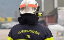 Le Tréport : l'escalier de l'habitation s'effondre lors de l'intervention des sapeurs-pompiers