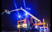 Explosion et plusieurs silos en feu dans l'entreprise Linex à Allouville-Bellefosse