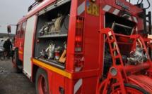 Rouen : un semi-remorque s'encastre dans une trémie et prend feu, sans faire de victime