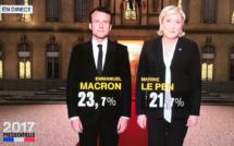 Election présidentielle : Emmanuel Macron et Marine Le Pen au second tour