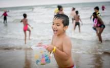 Journée inoubliable à la plage de Deauville pour 5 000 petits Franciliens grâce au Secours Populaire