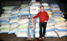 Hôtel de Police de Rouen : 640 kg de bouchons collectés au profit de personnes en situation de handicap