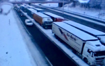 Des congères sur les routes de l'Eure rendent la circulation difficile