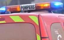 Rouen : la voiture tombe dans un ravin et s'enflamme, la conductrice est légèrement blessée