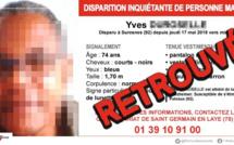 Yvelines : le septuagénaire disparu a été retrouvé sain et sauf ce matin dans les Hauts-de-Seine