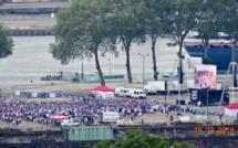 France - Croatie : la « fan zone » de Rouen prise d'assaut pour la finale de la coupe du Monde