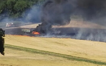 Eure : 5 hectares de chaume et un tracteur agricole détruits par un incendie à Caillouet-Orgeville