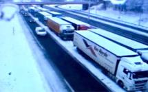 Neige et verglas : la circulation des poids-lourds est réglementée en Normandie