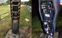 Incendie criminel dans l'Eure : le radar de Plasnes, sur le CD438 près de Bernay, encore détruit