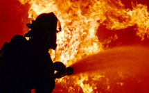 Maison en feu a Vatierville, en Seine-Maritime : une vingtaine de pompiers sur place