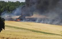 Eure : une église, un cimetière et un élevage de bovins menacés par un incendie à Vexin-sur-Epte