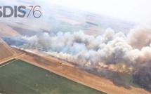 Impressionnants incendies en Seine-Maritime : 350 sapeurs-pompiers engagés en pleine canicule