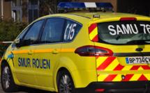 Collision entre un scooter et une Porsche, un homme grièvement blessé, près de Rouen