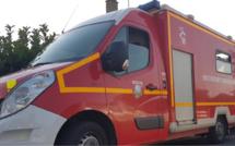 Dans l'Eure, la voiture percute un poteau EDF et prend feu, un jeune homme grièvement brûlé
