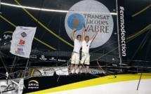 Charlie Dalin et Yann Eliès vainqueurs de la Transat Jacques Vabre avec l'Imoca Apivia
