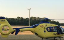 Seine-Maritime : blessé dans un accident, un homme évacué par hélicoptère au CHU de Rouen