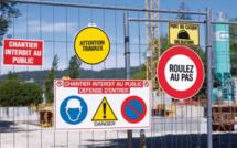 Chantier de construction en panne après le vol de l'ordinateur de la grue aux Mureaux (Yvelines)
