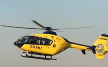 Un motard grièvement blessé près de Dieppe est évacué par l'hélicoptère du SAMU76
