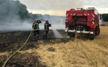 Les sapeurs-pompiers de l'Eure confrontés à une série de feux de chaume cet après-midi