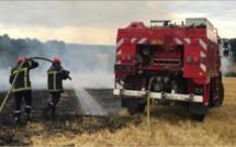 Eure : 10 hectares de chaume et de fourrage détruits par le feu à Ecquetot