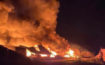 Seine-Maritime : un bâtiment de 4 000 m2 la proie des flammes chez Biolandes à Rives-en-Seine