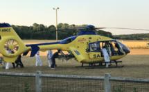 Seine-Maritime : un cyclomotoriste héliporté dans un état critique après un accident