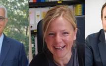 Sénatoriales dans l'Eure. Les trois élus sont : Hervé Maurey, Kristina Pluchet et Sébastien Lecornu