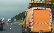 Seine-Maritime : la remorque du camion s'enflamme, l'A29 coupée dans les deux sens cet après-midi