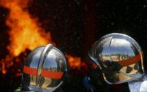 Eure : un pavillon embrasé a été détruit aux trois-quarts ce matin à Mandres, sans faire de victime