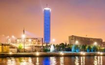 A Rouen, la Tour des Archives s'illumine en bleu cette nuit pour la journée des droits de l'enfant