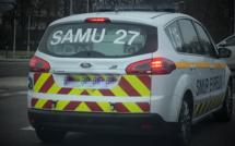 Accident grave dans l'Eure : un motard transporté, en urgence absolue, au CHU de Rouen