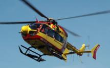 Eure : la camionnette percute la rambarde d'un pont, un blessé grave héliporté au CHU de Rouen