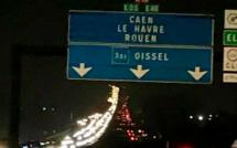 L'autoroute A13 bien chargée ce soir en Normandie, à quelques heures du couvre-feu
