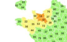 """L'Eure, l'Orne et le Calvados en vigilance """"orange neige"""" jusqu'à vendredi"""