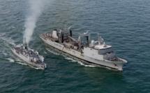 Entraînement Morskoul en baie de Seine pour les bâtiments de la Marine nationale