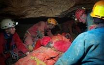 Exercice de sauvetage au fond des grottes de Caumont : le dispositif a bien fonctionné