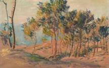 """Une toile de Claude Monet """"Sapins à Varengeville"""" adjugée 525.000 euros"""