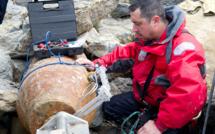 Déminage d'une bombe de 500 kg sous haute protection dans le Pas-de-Calais
