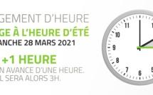 Dimanche 28 mars, on avance de 60 minutes : à 2 heures il sera 3 heures