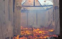 L'église de Romilly-la-Puthenaye, dans l'Eure, ravagée par un incendie ce matin