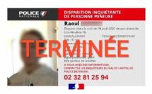 Disparition inquiétante au Houlme : le jeune homme de 17 ans a été retrouvé