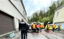 A Canteleu, près de Rouen, une voiture finit sa course dans un mur : deux blessés légers