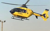 D'abord prise en charge par les sapeurs-pompiers, la jeune femme blessée a été ensuite acheminée par hélicoptère au CHU de Rouen - Illustration©infoNormandie